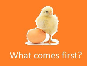 What comes first?
